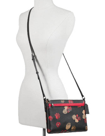 3eecd96720a6 Coach Halftone Floral East West Pop up Pouch Crossbody
