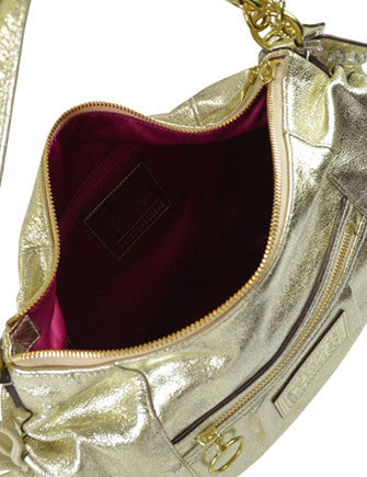 Coach Poppy Metallic Leather Jazzy Shoulder Bag