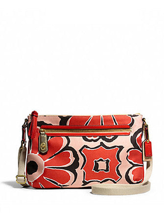 Coach Poppy Floral Scarf East West Swingpack
