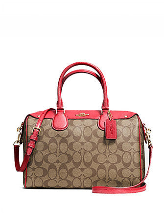 Coach Signature Coated Canvas Bennett Satchel