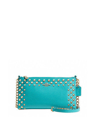 Coach Studded Crossgrain Leather Quinn Crossbody