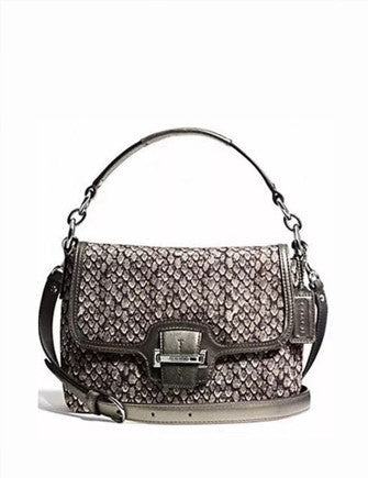 Coach Taylor Python Print Flap Shoulder Crossbody Bag