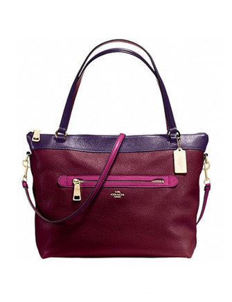 Coach Tyler Colorblock Leather Tote