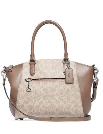 Coach Coated Canvas Signature Elise Satchel