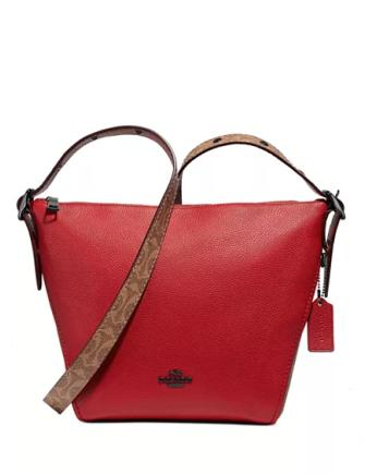 Coach Coated Canvas Signature Blocking Leather Dufflette