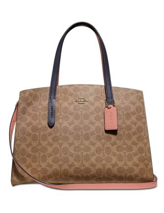 Coach Coated Canvas Signature Colorblock Charlie Satchel