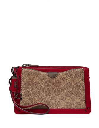 Coach Coated Canvas Signature Dreamer Wristlet