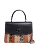 Coach Coated Canvas Signature Exotic Patchwork Stripe Parker Top Handle
