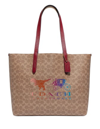 Coach Coated Canvas Signature Rexy And Carriage Print Highline Tote