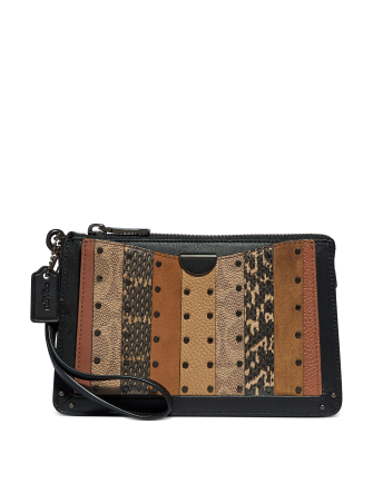 Coach Coated Canvas Signature Stripe Dreamer Wristlet