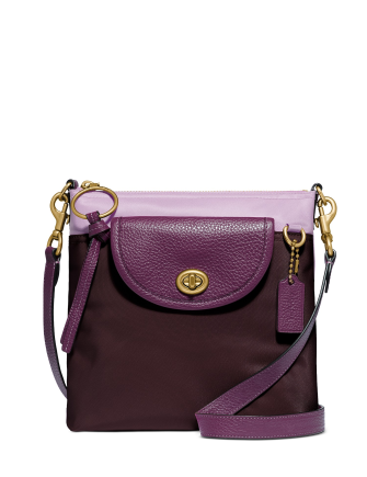 Coach Colorblock Nylon Cargo Crossbody