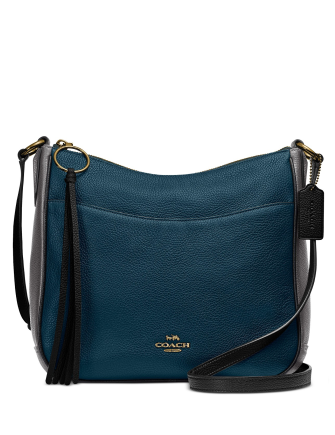 Coach Colorblock Chaise Crossbody in Pebble Leather