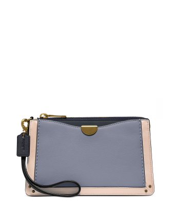 Coach Colorblock Dreamer Leather Wristlet