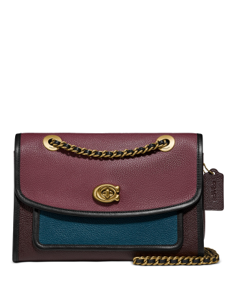 Coach Colorblock Leather Parker Shoulder Bag