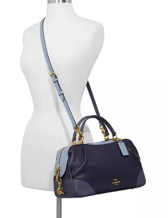 Coach Colorblocked Leather Lane Satchel