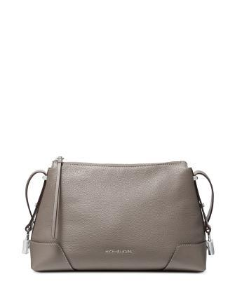Michael Michael Kors Crosby Pebble Leather Messenger Shoulder Bag