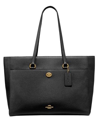 Coach Leather Folio Tote
