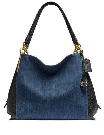 Coach Dalton Blocked Denim & Leather Shoulder Bag