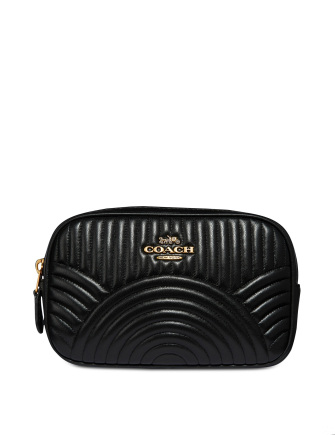 Coach Deco Belt Bag in Quilted Leather