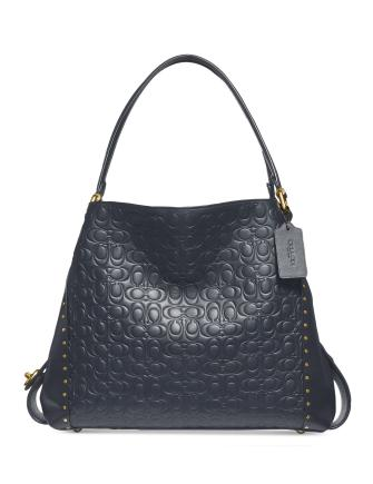 Coach Signature C Leather Rivet Edie 31 Shoulder Bag