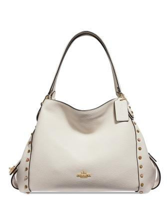 Coach Edie 31 in Pebble Leather Shoulder Bag