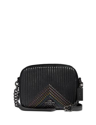 a3e8090fe7 Coach Embellished Quilted Leather Camera Bag