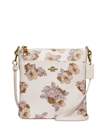 Coach Floral Bouquet Print Kitt Crossbody