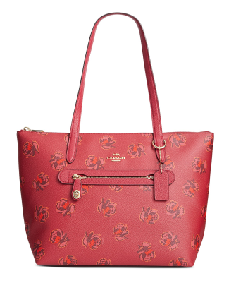 Coach Floral Print Leather Taylor Tote