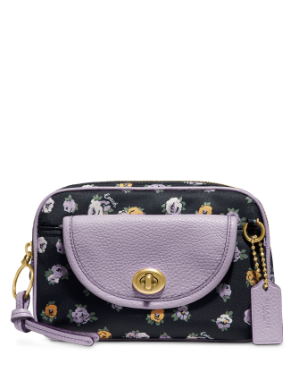 Coach Floral Print Nylon Belt Bag