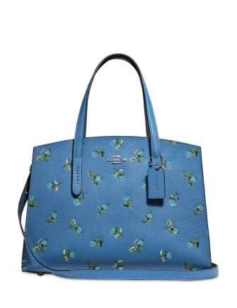 Coach Floral Print Leather Charlie Carryall