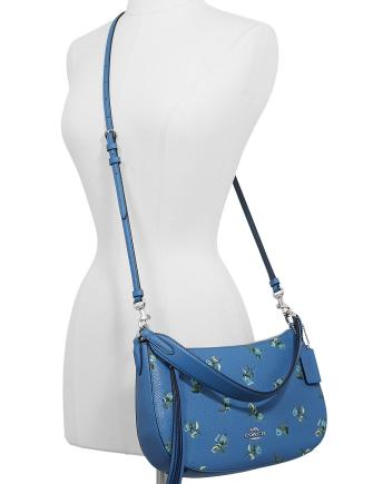 Coach Floral Print Leather Sutton Crossbody