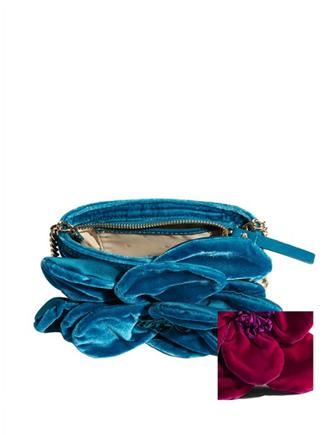 Kate Spade New York Velvet Deluxe Plush Skipper Rose Crossbody