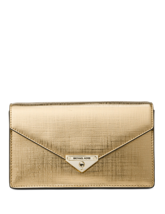 Michael Michael Kors Grace Leather Clutch