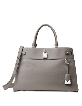 Michael Michael Kors Gramercy Polished Leather Satchel