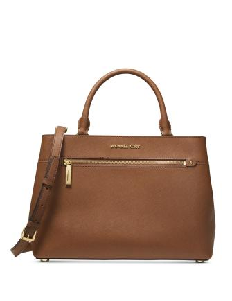 Michael Michael Kors Hailee Crossgrain Leather Satchel