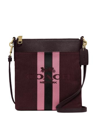 Coach Horse And Carriage Jacquard Kitt Crossbody