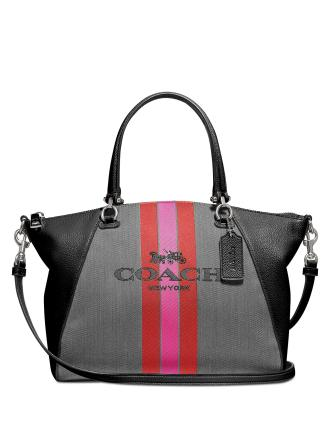 Coach Horse And Carriage Jacquard Prairie Satchel