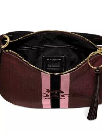 Coach Horse And Carriage Jacquard Sutton Crossbody
