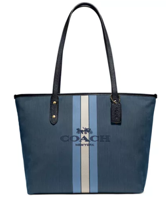 Coach Horse & Carriage Jacquard City Tote