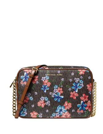 Michael Michael Kors Jet Set East West Signature Floral Crossbody
