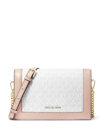Michael Michael Kors Jet Set Flap Chain Signature Crossbody