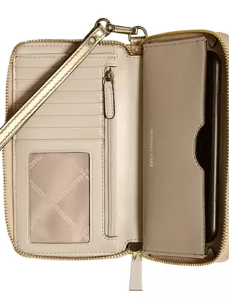 Michael Michael Kors Jet Set Charm Metallic Leather Wallet