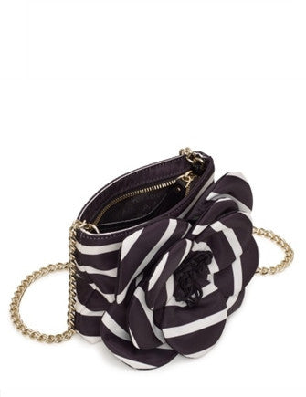 Kate Spade New York Flower Skipper Nylon Stripe Crossbody