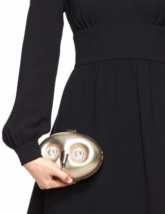 Kate Spade New York Blaze A Trail Gold Owl Clutch