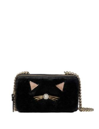 Kate Spade New York Marigold Brighton Lane Black Cat Crossbody