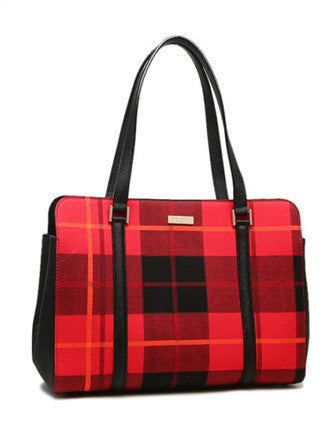 Kate Spade New York Miles Newbury Lane Plaid Tote