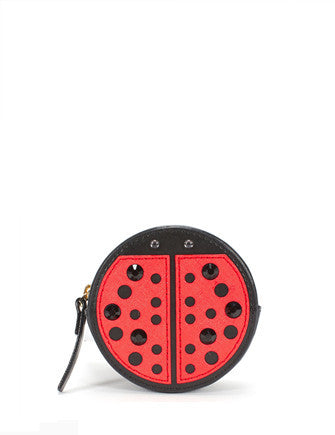 Kate Spade New York Turn Over A New Leaf Ladybug Coin Purse