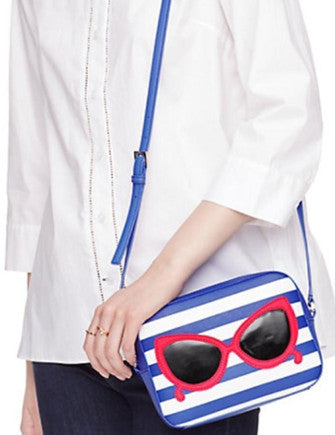 Kate Spade New York Make a Splash Mindy Stripes & Sunglasses Crossbody