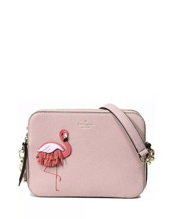 Kate Spade New York By The Pool Flamingo Camera Crossbody