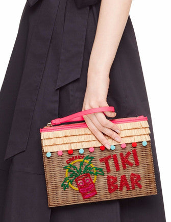 Kate Spade New York Tiki Bar Pouch Clutch Breath Of Fresh Air Wristlet